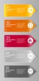 Infographic-Geschäftsschablonen-Vektorillustration Stockbilder