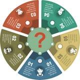 Infographic-Geschäftsschablonen-Vektorillustration Lizenzfreie Stockfotografie