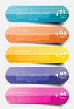 Infographic-Geschäftsschablonen-Vektorillustration Stockfotografie