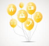 Infographic-Geschäftsschablonen-Vektorillustration Lizenzfreie Stockbilder