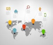 Infographic-Geschäftsschablonen-Vektorillustration Stockfotos