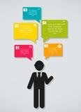 Infographic-Geschäftsschablonen-Vektorillustration Stockbild