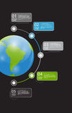 Infographic Geschäftsschablonen-vektorillustration Stockbilder