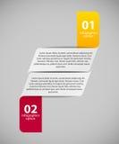 Infographic-Geschäftsschablonen-Vektorillustration Lizenzfreies Stockbild