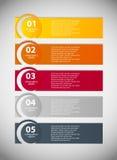 Infographic-Geschäftsschablonen-Vektorillustration Stockfoto