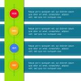 Infographic geschikt van het chronologiemalplaatje voor Stock Afbeelding