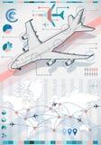 Infographic gesetzte Elemente mit Flugzeug Stockfotografie