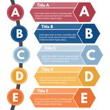 Infographic Gestaltungselement von fünf Schritten Stockfoto
