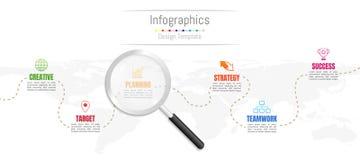 Infographic-Gestaltungselemente für Ihre kommerziellen Daten mit 6 Wahlen, Teile, Schritte, Zeitachsen oder Prozesse und transpar vektor abbildung