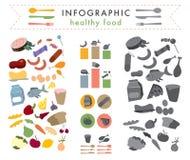 Infographic gezond voedsel Stock Foto