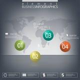 Infographic glatte Elemente des Balls 3d des modernen Designs Lizenzfreie Stockbilder