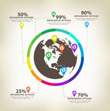 Infographic global Design Elements Vector Stock Photo