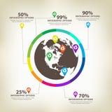Infographic global Design Elements Vector Stock Photo