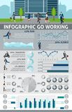 Infographic Go Working People Royalty Free Stock Photos
