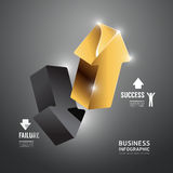 Infographic Gold arrow Template.Business Concept Vector. Stock Images