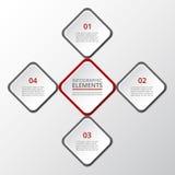 Infographic gradual Foto de archivo libre de regalías
