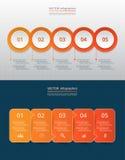 Infographic gradual Imagen de archivo libre de regalías