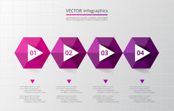 Infographic gradual Fotografía de archivo