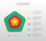 Infographic gradual Fotografía de archivo libre de regalías