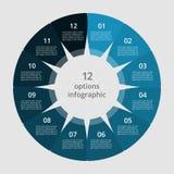 Infographic graduale Immagini Stock