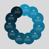 Infographic graduale Fotografie Stock Libere da Diritti