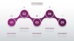 Infographic graduale Fotografia Stock Libera da Diritti