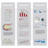 Infographic grafer och beståndsdelar. Stock Illustrationer