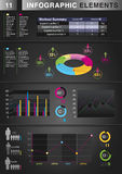 INFOGRAPHIC Graph ELEMENT Stock Images