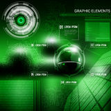 Infographic graphic elements 3d Stock Image