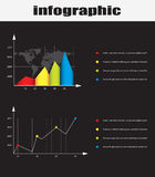 Infographic graphs and elements Stock Image