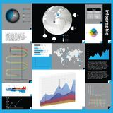 Infographic  graphs and elements. Royalty Free Stock Photos