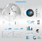 Infographic  graphs and elements. Royalty Free Stock Images