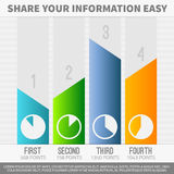 Infographic graphs Royalty Free Stock Image
