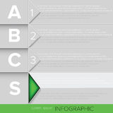 Infographic Green Button Stock Photography