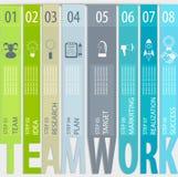 Infographic groepswerkconcept - Stock Fotografie