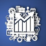 Infographic The Growth. Business Concept. Stock Images