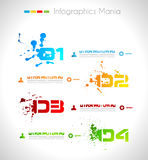 Infographic grunge design with paper tags Stock Photography