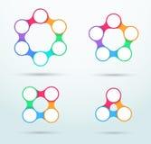 Infographic ha collegato il modello B stabilita dei cerchi royalty illustrazione gratis