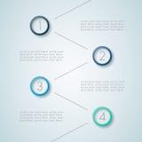 Infographic ha numerato punti 5 Fotografia Stock Libera da Diritti