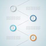 Infographic ha numerato punti 6 Fotografia Stock