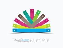 Infographic-Halbkreisdesign Lizenzfreie Stockbilder