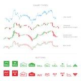 Infographic Handelselemente lokalisiert auf weißem Hintergrund Lizenzfreie Stockfotografie