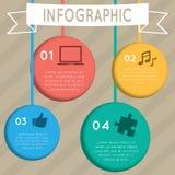 Infographic hangende cirkel Stock Foto's