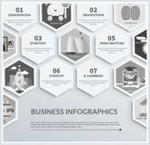 Infographic of headwork, strategy, start up Royalty Free Stock Photo