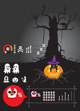 Infographic helloween. Design colour Stock Photo