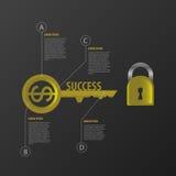 Infographic Het malplaatje van het bedrijfssuccesconcept Vector Royalty-vrije Stock Foto