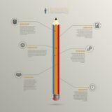 Infographic Het malplaatje van het bedrijfssuccesconcept Vector Royalty-vrije Stock Foto's
