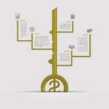 Infographic Het malplaatje van het bedrijfssuccesconcept Vector Royalty-vrije Stock Fotografie