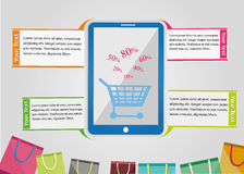 Infographic het Winkelen Royalty-vrije Stock Afbeeldingen