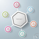 Infographic Hexagon Colorful Rings Royalty Free Stock Photos